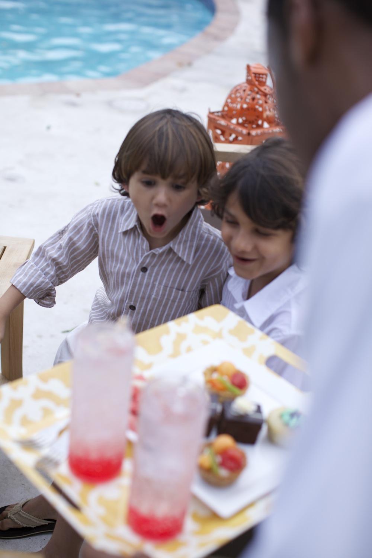 kids food at wedding
