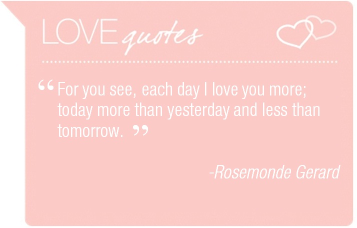 love quote- rosemonde gerard