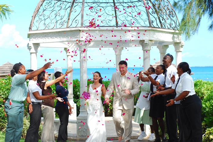 hymel confetti real wedding