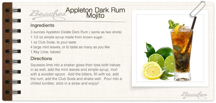 appleton dark rum mojito recipe card