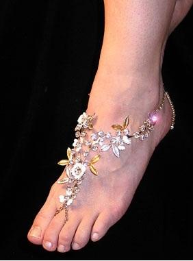 Expensive barefoot sandal