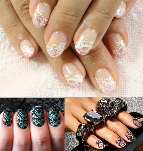 Naturally White Lace Would Be A Preferred Choice For Wedding Day Nails Although You May Want To Consider Black Y Look Honeymoon