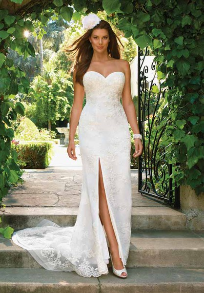 wedding dress slit