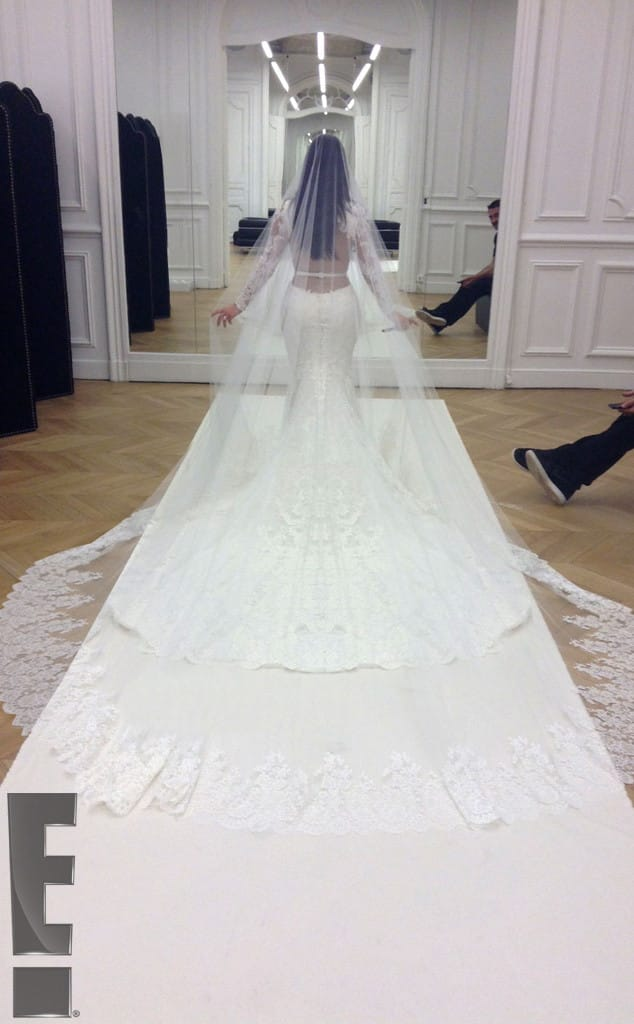 Kim K wedding train