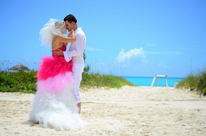 93477af4a44d6 Sandals Real Wedding  Diana and Alexander s Free-Spirited Beach Wedding
