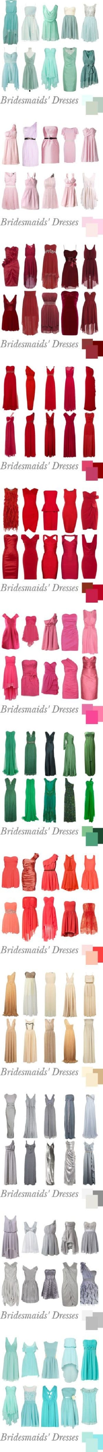 bridesmaids dresses in style and color