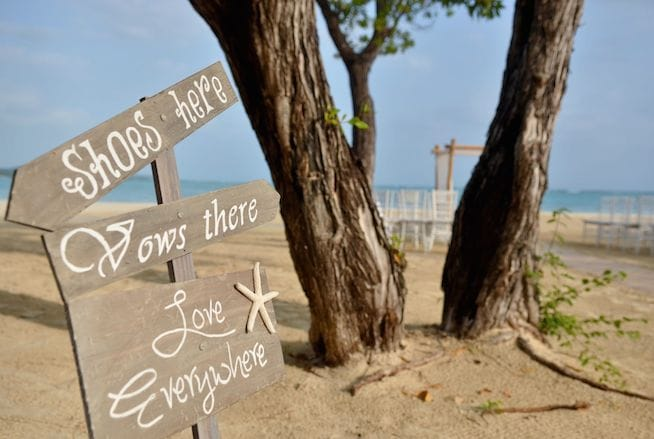 Beach Wedding Signs | Wedding Signs Archives Sandals Wedding Blog