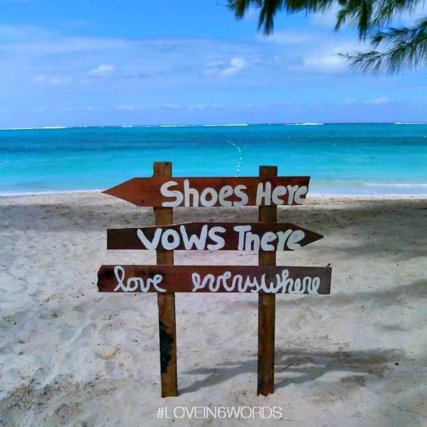 beaches wedding sign