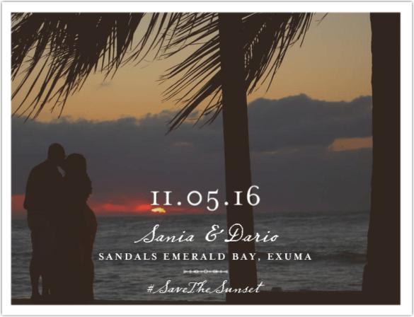 Save The Sunset 1 wedding paper divas