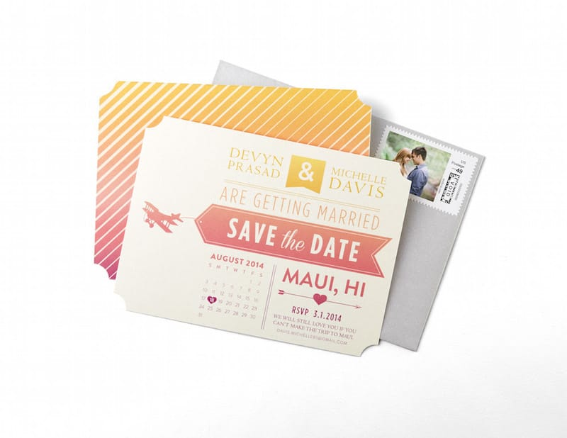Destination Wedding Save The Date Paper Divas