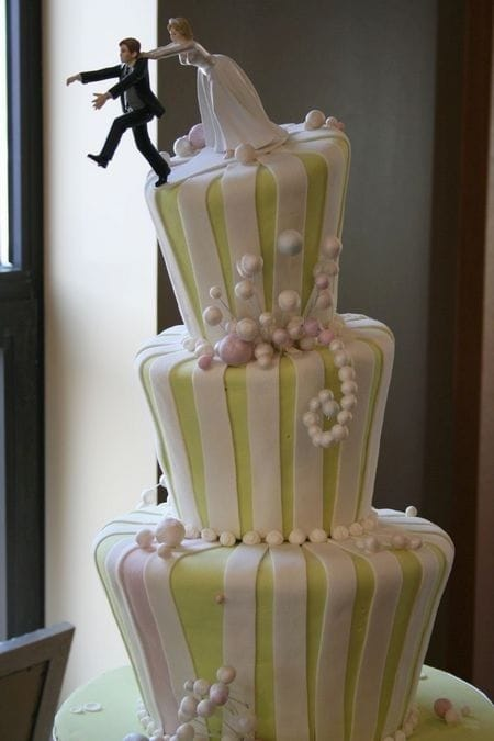 Creative wedding cake toppers we love sandals wedding blog funny cake topper junglespirit Image collections