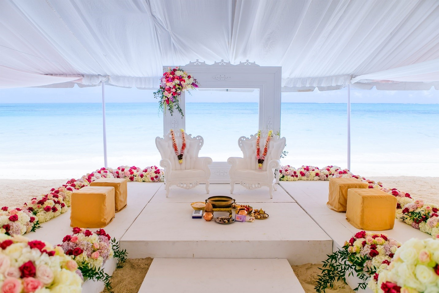 Wedding Decor for Mandap at Beaches Turks and Caicos