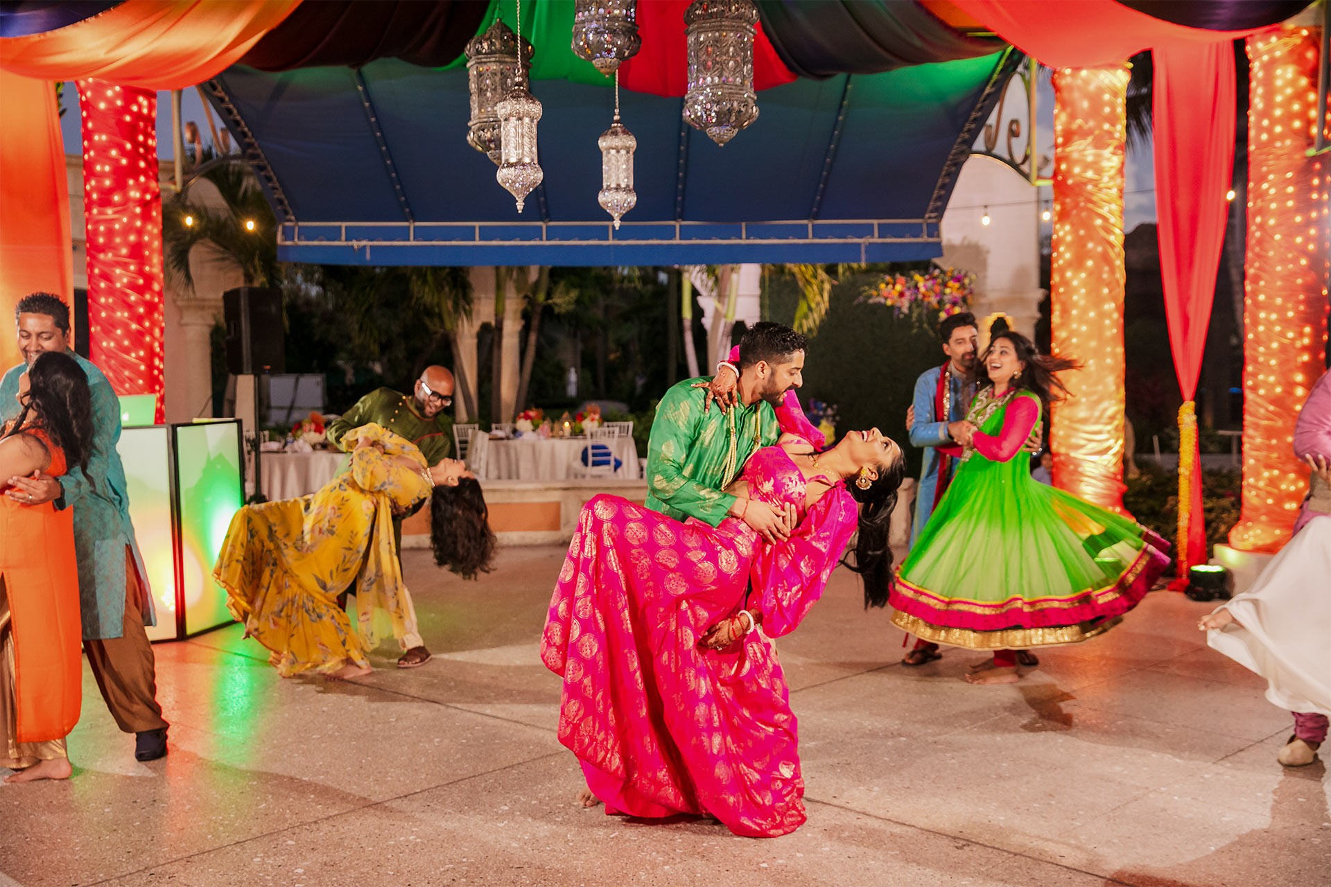 Couples dance routine for the Sangeet at Beaches Turks and Caicos