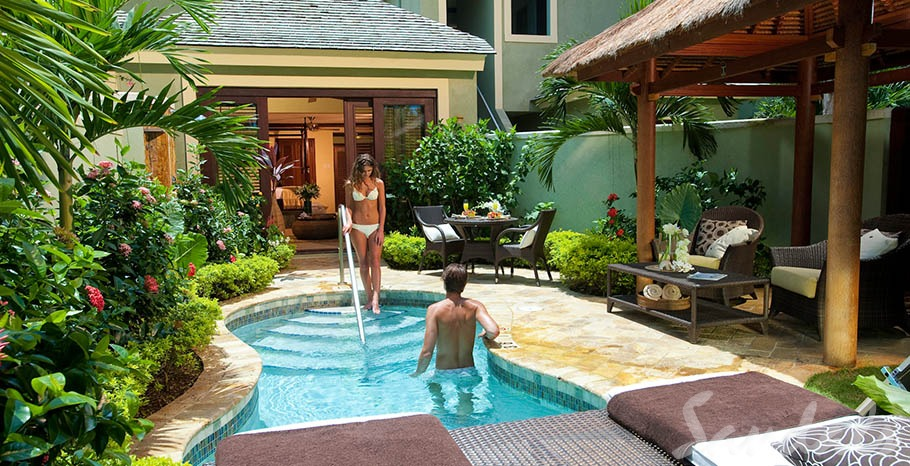 Sandals Resorts All Inclusive Luxury Honeymoon Villa in Negril Jamaica with Private Pool