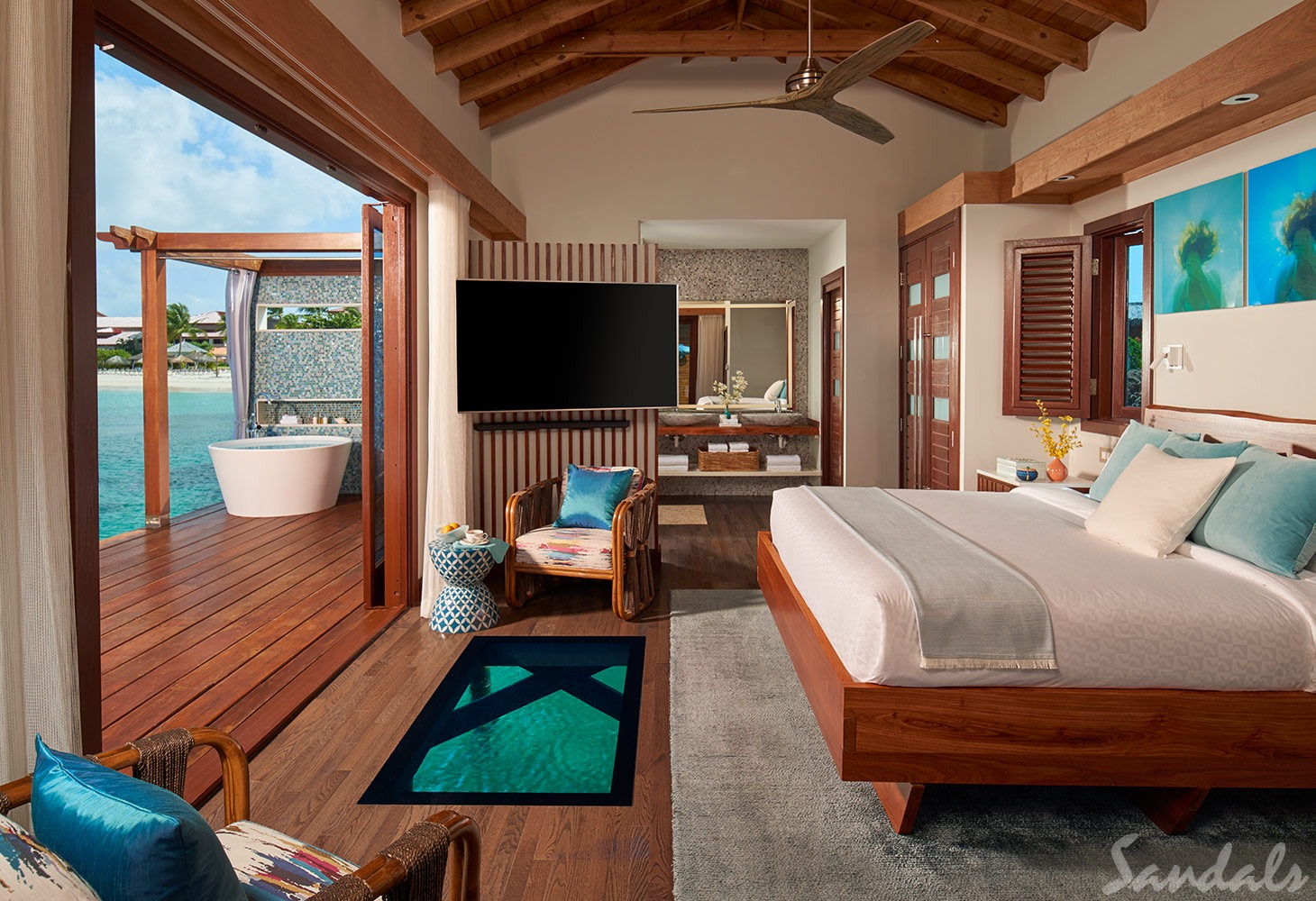 Overwater All Inclusive Luxury Honeymoon Suite at Sandals Resorts in Saint Lucia