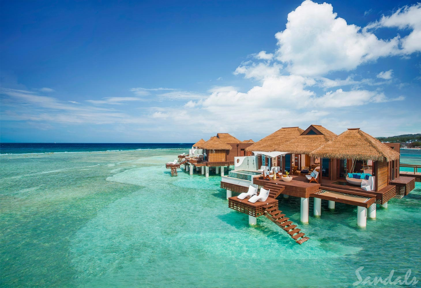 Overwater Honeymoon Villa with private pool at Sandals Royal Caribbean in Montego Bay Jamaica