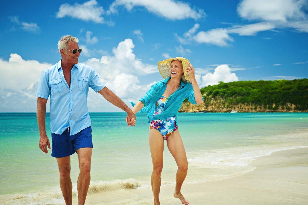 Couple shares a moment along the beach